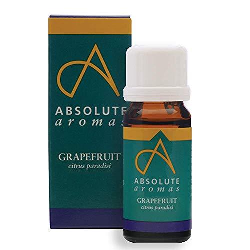 Absolute Aromas Olio Essenziale di Pompelmo 10 ml - Puro, Naturale, Non Diluito, Cruelty Free e Vegan - per Aromaterapia, Diffusori, Candele e Ricette di Bellezza fai-da-te