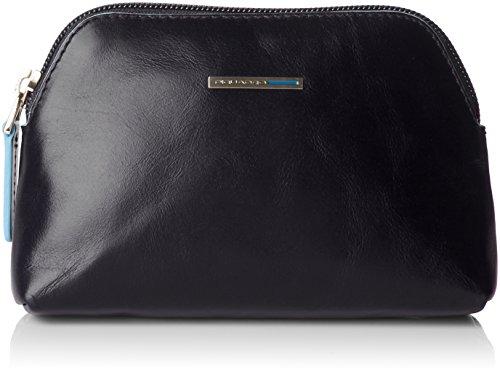 Piquadro Nécessaire Collezione Blue Square Beauty Case, Pelle, Blu Scuro, 16 cm