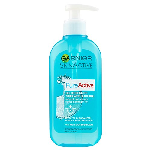 Garnier Pure Active Gel Detergente Purificante Quotidiano per Pelli Miste con Imperfezioni, 200 ml