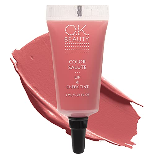 Color Salute Lip n Cheek Tint – Long Lasting Velvet Finish Lip Care & Blush in 9 trendy colors – Multipurpose Paraben Free Makeup Cosmetics - OK Beauty… (Marrakech)