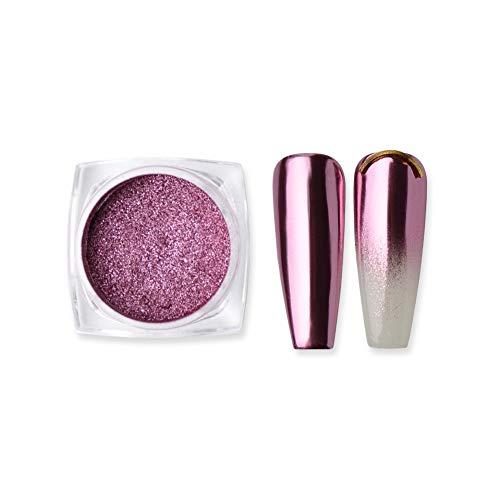 MEILINDS 1g Oro Rosa Polvere Unghie Specchio Nail Art Pigmento Glitter Polvere Per Unghie