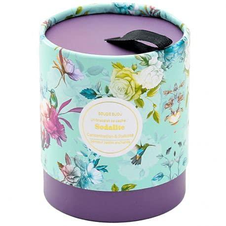 Stella Green - Candela gioiello Sodalite, giardino incantato