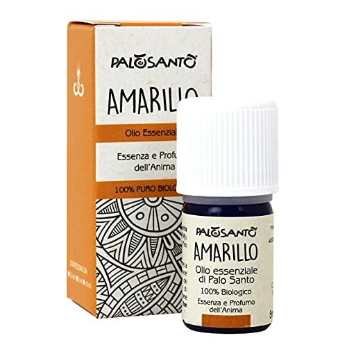 Olio Essenziale di Palo Santo Amarillo - 100% naturale ed Originale per Aromaterapia - Olio di Palo Santo ideale per Diffusore ad Ultrasuoni - Qualità sciamanica - 5 ml