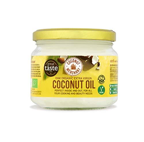 Olio di Cocco Biologico Extra Vergine 300 ml | Crudo e Spremuto a Freddo | Organico e Puro al 100% | Ideale sui Capelli, sul Corpo e ad Uso Alimentare | COCONUT MERCHANT…