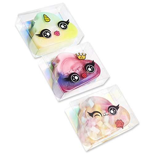 Poopsie Unicorn Rainbow Saponette Profumate Bambina - Set di 3 Saponi Unicorno Sparkly Critters - Popsie Surprais Unicorn Saponette Profumate Bomboniere - Regalini per Feste di Compleanno Bambini