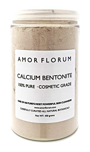 400 g - ARGILLA DI CALCIO BENTONITE - GRADO COSMETICO - di AMOR FLORUM. 100% NATURALE. Argilla in Polvere. Superfina