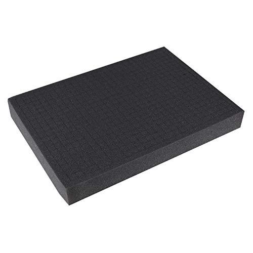 HMF, schiuma a dadi, 345 x 275 mm, inserto per valigia, piano del tavolo, diverse altezze, modello 1458  50 mm