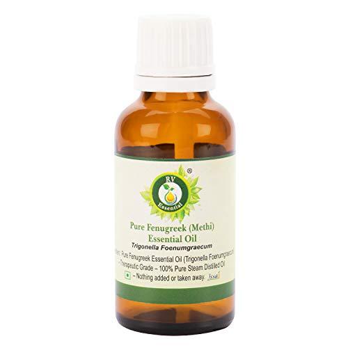 Olio essenziale fieno greco   Methi Oil   Trigonella Foenumgraecum   100% naturale puro   Distillato a vapore   Grade terapeutico   Fenugreek Essential Oil  10ml   0.338oz By R V Essential