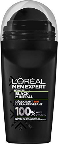 L' Oréal Paris Men Expert Black Mineral Deodorante Bille 48H Ultra assorbente Uomo 50ml