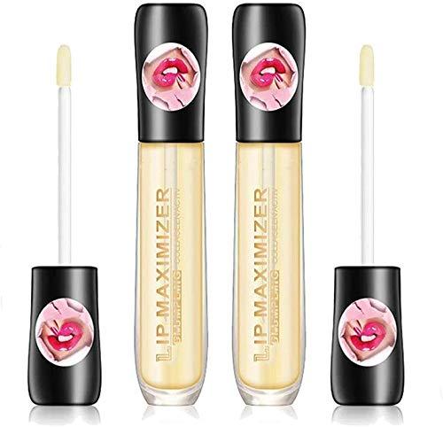 ASFAFG Lip Maximizer,Lip Plumper Extreme Lip Gloss Maximizer Volume Plump,Moisturize, Eliminate Dryness Wrinkles Enhances Plump Gloss (2pcs)