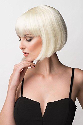 Annabelle's Parrucca biondo platino taglio dritto Bob Carol-Anne 200 g