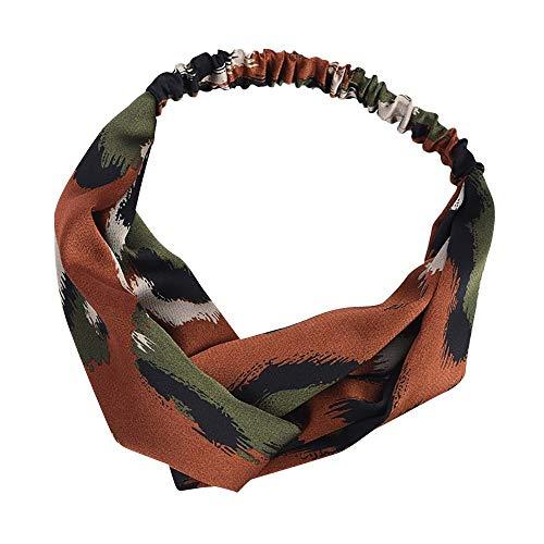 NPRADLA Elegante Boho Leopard Twist Knot Fascia Elastico Wrap Turbante Fascia Per Capelli Yoga Sport Ladies Trucco Neonata