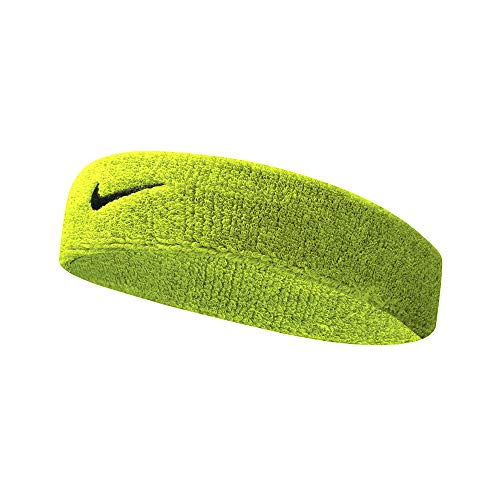 Nike Swoosh Headband Fascia per Capelli paraorecchie Taglia Unica - Verde Neon