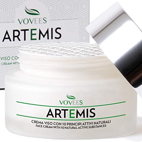 VOVEES Artemis Crema Viso Antirughe Idratante Bio con Acido Ialuronico Puro per Giorno e Notte, 50ml
