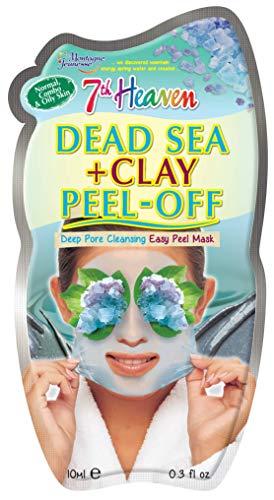 7th Heaven Dead Sea Clay Easy Peel Off maschera viso con caolino argilla e alghe per la pulizia profonda dei pori, normale, combinata e grassa della pelle