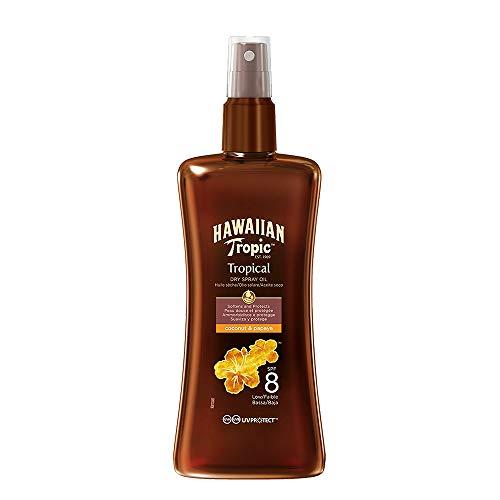 Hawaiian Tropic Olio Protettivo Dry, Protezione 8 - 200 ml