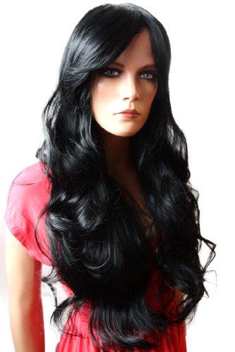 PRETTYSHOP Parrucca da donna Fashion Capelli Lunghi ondulato 80cm resistente al calore FP712 vari colori