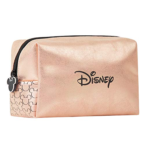 Disney Pochette Donna, Beauty Case Per Trucchi Rose Gold, Astuccio Make Up Con Mickey Mouse, Regalo Disney Originale Per Donna E Ragazza