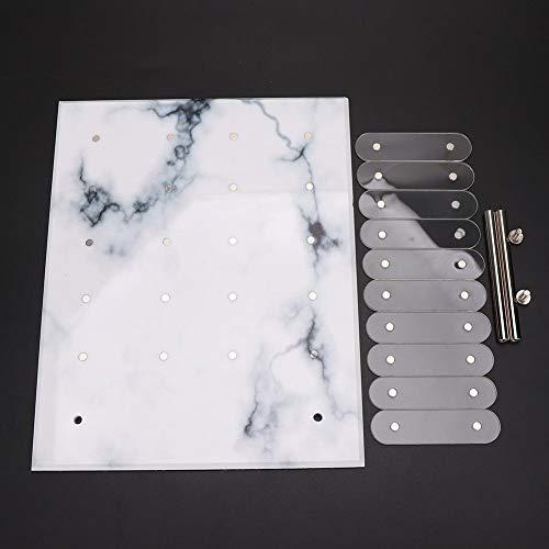 Supporto per esposizione di nail art, risultati migliori Facile da riporre Non facile da cadere Vetrina per smalti riutilizzabili,(Marble magnetic adsorption)