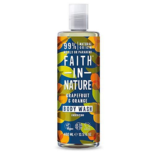 Faith in Nature Body wash, 100% Naturale con Pompelmo e Arancia, Per tutti I Tipi di Pelle, Senza Parabeni, Vegano, 400 ml