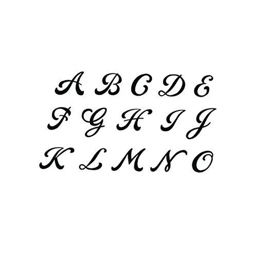 BLOUR Nuovi Adesivi Tatuaggio temporaneo Impermeabili Caldi per Adulti Bambini Body Art Scrittura a Mano Lettere L-019 Tatuaggio Falso per Uomo Donna