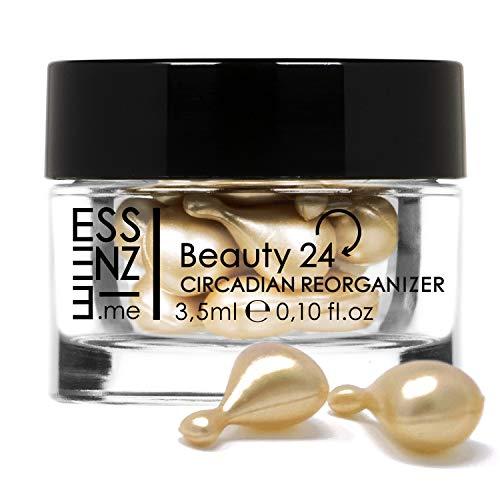 ESSENZE Beauty 24 | 10 Capsule Siero Viso e Contorno Occhi Antirughe Antistress Stimola la Sintesi di Collagene e Acido Ialuronico Effetto Botox Con Peptidi ed Estratto di Plankton MADE IN ITALY