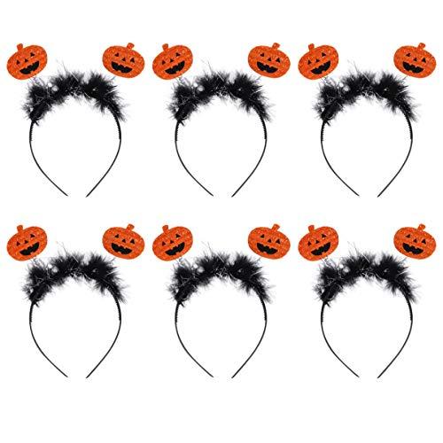 Minkissy 6 Pezzi Fascia di Zucca di Halloween Fascia di Halloween con Boppers Costume di Halloween Copricapo per Forniture per Feste in Costume Cosplay