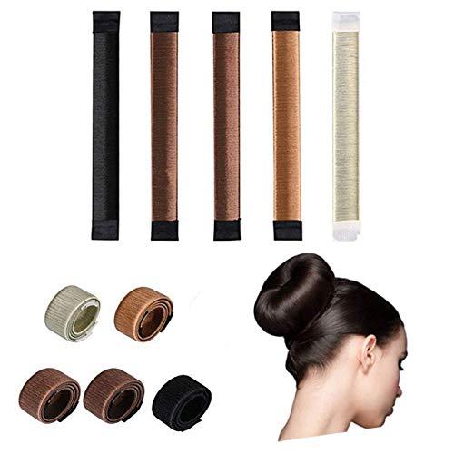 Binjor 10Pcs Accessori capelli Ciambelle per chignon Facile French Twist capelli Tool Chignon Shaper Set per Ragazza Donne magic capelli Hairstyle