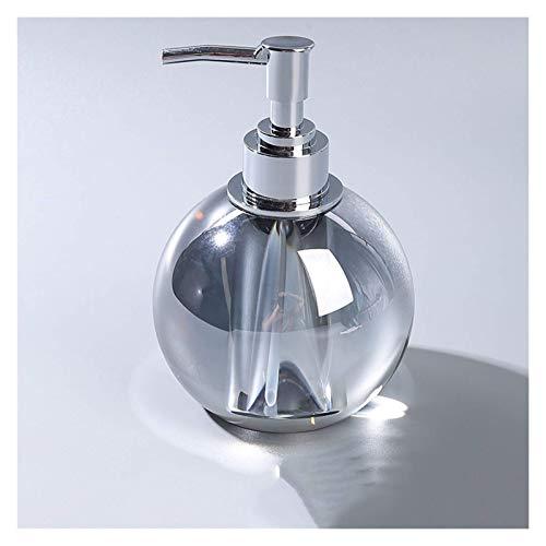 Barm Dispenser di Sapone di Cristallo di Alta Classe, Olio Essenziale di Gel Doccia per imbottigliamento, per Bottiglia di lozione per Soggiorno da Bagno, Ambra (Colore: Grigio di Alta qualità)