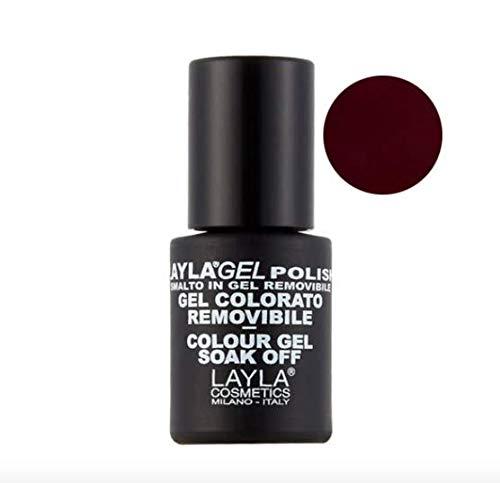Layla Gel Polish 10 Red Black Smalto Gel Semipermanente 10 ml + Omaggio semipermanente 10 ml