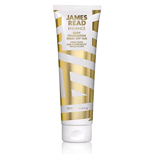JAMES READ Autoabbronzante lavabile 100ml MEDIO Abbronzatura naturale, effetto aerografo, formula resistente all'acqua asciutta in 60 secondi, adatto per tutti i tipi di pelle, dura fino a 24 ore