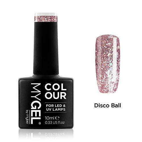 Smalto MyGel, da MYLEE (10ml) MG0087 - Disco Ball UV / LED Nail Art Manicure Pedicure per uso professionale in soggiorno ea casa - Lunga durata e facile applicazione
