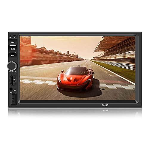 Andven Autoradio Bluetooth, Car Stereo 2 DIN 7 pollici Touch Screen MP5 Player con supporto FM/AUX/USB/TF card + Rear View Fotocamera + telecomando