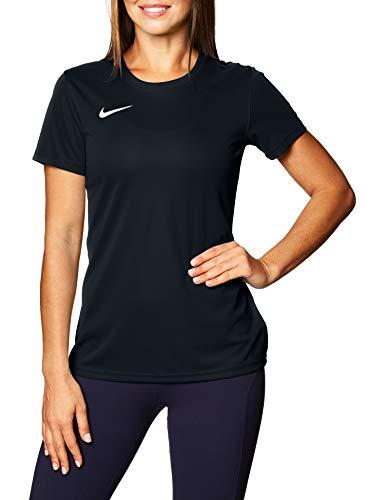 Nike Dry Park VII W Maglietta a Maniche Corte Donna, Nero (Black/White), XS