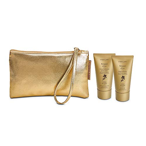 L'Erbolario Bouquet D'Oro Beauty Pochette 1 Bagnoschiuma 75 ml + 1 Crema Corpo 75 ml Made In italy