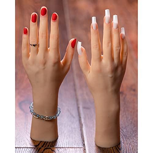 XIOFYA Mani Molle Flessibili del Modello di manichino Femminile Flessibile per la Pratica del Tatuaggio, Display dell'orologio degli Anelli del chiodo, Disegno di Arte