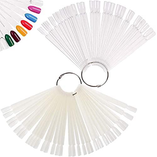 Espositore per ventola da 100 pezzi, strumenti per esposizione di smalto per unghie espositore per ventola finta con anello in metallo per l'esposizione di principianti di colori per unghie
