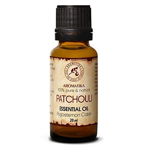 Patchouli Olio Essenziale 20ml - Pogostemon Cablin - Indonesia - 100% Puro & Naturale Patchouli - Bellezza - Aromaterapia - Spa - Diffusore Aromi - Lampada Aroma