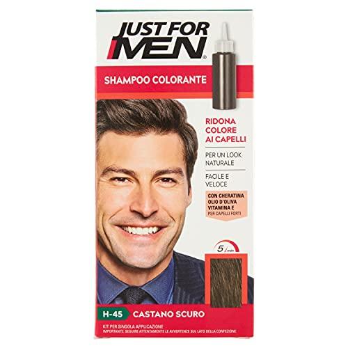 Just for Men Shampoo Colorante, H45 – Castano Scuro, Shampoo Colorante per Uomo (Nuova Formula)