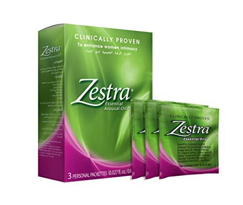 Zestra Olii Essenziali Arousal - 3 pacchetti monodose 0,8 ml - Olio di eccitazione botanico organico e naturale - Sicuro e clinicamente dimostrato per migliorare il piacere durante i momenti intimi