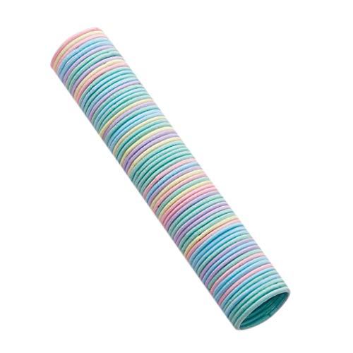 50 elastici per capelli da bambina da 3 cm, accessori colorati per capelli, elastici ed elastici, non fanno male ai capelli (M)
