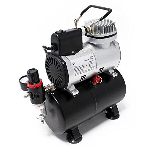 Compressore per aerografo AF186 con serbatoio d'aria Riduttore di pressione 4 bar Arresto automatico