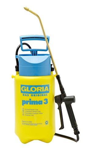 GLORIA - Nebulizzatore a pressione prima 3, per giardino, capacità di 3 L, ugello in ottone regolabile, compatto per giardini di piccole dimensioni