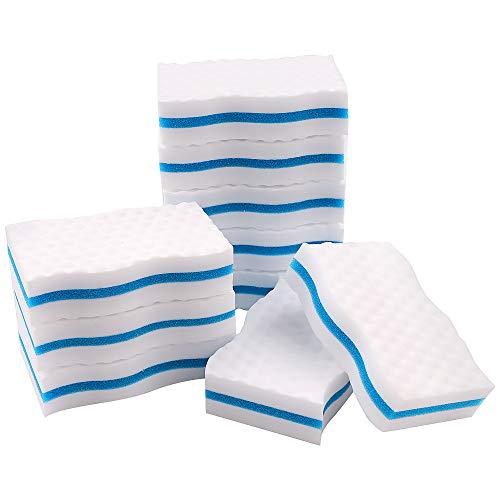 Confezione da 10 spugne per cancellare magiche di alta qualità, spugnette in melamina extra spesse, per pulire segni di mazze, cucina, bagno, pavimento e parete, durevole