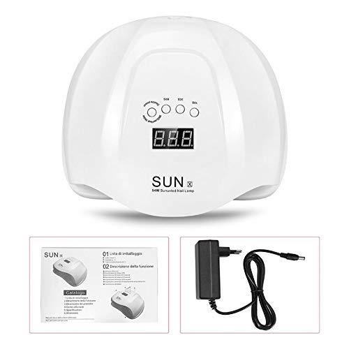 Lampada UV Led 54W SUN X Display Timer Sensore Ricostruzioni Unghie Fornetto
