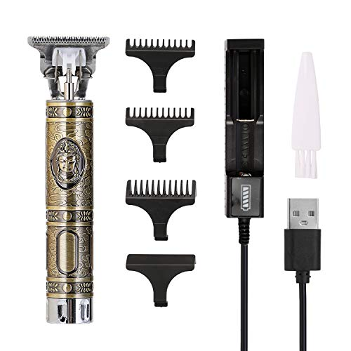 Decdeal Tagliacapelli Uomo Professionale,Macchina Tagliacapelli Elettrico,USB Ricaricabile per Rifilatura e Scultura