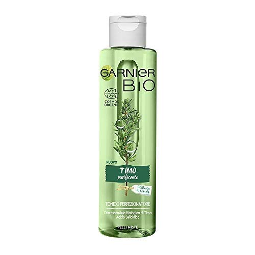 Garnier Bio Tonico Viso Timo Purificante, Tonico Naturale Bio per il Viso arricchito con Timo Purificante, 150, 1 pezzo