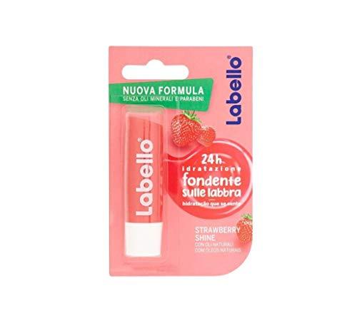 Labello Strawberry Shine, Balsamo Labbra per Labbra Morbide e Idratante, Aroma di Fragola