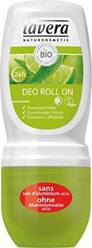 Lavera Deo Roll-On Con Limone Bio & Verbena Bio, Trasparente - 50 ml.