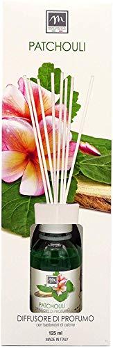 GIRM® - ME16569 Diffusore d'Essenza con Bastoncini in Cotone Aroma Patchouli ml 125